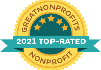 The Greatnonprofits logo for 2021 top rated nonprofits