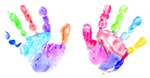 Child's handprints