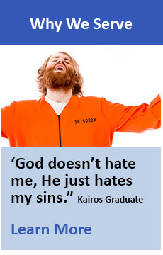 God doesn't hate me, he just hates my sins - Kairos Graduate